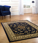 MEDIUM - EXTRA LARGE MAT MIDNIGHT BLUE CLASSIC CHINESE STYLE RUG IN 3 SIZES