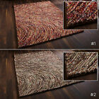 LARGE SWIRL 100% HAND TUFTED INDIAN LOOPED THICK WOOL SUPER HEAVYWEIGHT INCA RUG