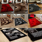 LARGE THICK SOFT SUMPTUOUS 3D DEEP TEXTURED SHAG PILE GEOMETRIC NOBLE HOUSE RUGS
