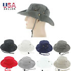 Mens Boonie Bucket Hat Cap 100% Cotton Fishing Military Hunting Safari Hiking