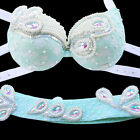 B&D&DD CUP Belly Dance Costume Outfit Set Bra Belt Carnival Bollywood 2 PCS