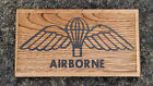 BRITISH AIRBORNE WINGS OAK WOOD PLAQUE /  CARVING