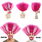 King Peppy Troll Style Pink White Cosplay Party Costume Wig HM-110