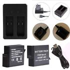 New For GoPro Hero 5 Battery Pack Camera Rechargable Li-ion Battery+Charger