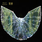Women Belly Dance Costumes 360° LED Light Isis Wings Egyptian Sticks Performance