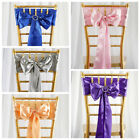 100 New Satin Chair Sashes Bows Ties Wedding Decorations - Wholesale Discounted