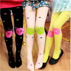 New High Quality girls tights Velvet candy colors Cat Fish Pantyhose for kids HF