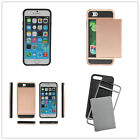 Anti-scratch Protective Case Rubber Bumper Case with Card Holder Slot for iPhone
