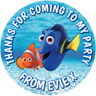 FINDING DORY GLOSS BIRTHDAY SWEET CONE PARTY BAGS  PERSONALISED LABELS 4 SIZES