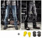 Motorcycle Biker Distressed Pants Protection Pads Denim Jeans Trousers Punk Hot