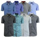 Men's Short Sleeve Slim-Fit Button-Down Casual Summer Shirt Size S M L XL XXL