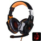 Gaming Headset Stereo Pc Mic 3 5mm Headphone Headband Usb Led Surround Each Pro