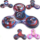 Comic Princess Captain America Fidget Hand Spinner Toy For ADHD Stress Relief