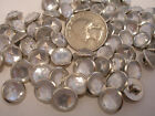 24 New Metal Crystal Buttons Plastic Jewel Center 7/16 inch