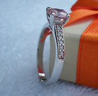 Silver Ring With Nice Stone Pink  6.50mm CZ