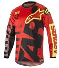 Alpinestars 2018 Racer Braap Red Black Yellow Flo Race Jersey Shirt Motocross