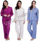 Wincy Ladies Pyjamas Winceyette Drawstring 100% Cotton SNOWFLAKE 10 12 14 16 18