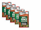 Ronseal Shed And Fence Preserver 2 in 1 Protection 5 Colours Available - 5 Litre