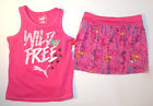 Puma Toddler Girls 2pc Tank Top and Skort Set Pink Size 4T NWT