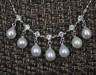 Free shipping Drop cultured freshwater pearl necklace Chain