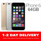 AS NEW iPHONE 6 64GB 4G GSM SPACE GREY GOLD SILVER EXPRESS UNLOCKED MR