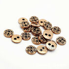 12pcs Snowflake Round Metal 2-Hole Flat Buttons Sewing Coat Embellishment 10mm