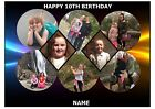 OWN PERSONALISED COLLAGE 8 PHOTO A4 EDIBLE CAKE TOPPER CUSTOM MADE PICTURE