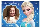 "PRINCESS ELSA OWN PERSONALISED PHOTO A4 EDIBLE BIRTHDAY PARTY CAKE TOPPER 11""X8"""