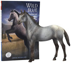 Book and Horse Toy Set 1:12 Scale Model Horse Toy Breyer Classics Wild Blue