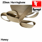"BIEGE 20mm 4/5"" inch Herringbone Tape Cotton Trim Strap Apron Upholstery Tie"