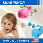 Whale Faucet Cover Bathtub Guard Soft Silicone Baby Bath Safety Protector w/toy