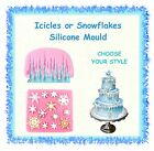 Icicles or snowflakes silicone mould mold - CHOOSE YOUR STYLE - cake cupcake
