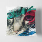 Faux Suede Throw Scatter Cushion Cat Eyes (13) V2
