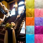 5M*1.35M Table Swags Sheer Organza Fabric DIY Wedding Party Bow Venue Decoration