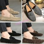 Mens Faux Suede Moccasins Gommino Shoes Tassels British Slip On Loafers Driving