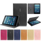 Folio Leather Cover Case Stand For Amazon All-New Fire HD 8 Tablet 7th Gen 2017