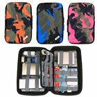 Camo Travel Carrying Organizer Bag for USB Hard Flash Drive Cable Pouch HDD Case