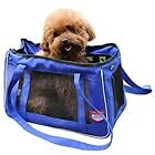 Pet Carrier Soft Sided Cat Dog Comfort Travel Tote Bag Travel Tote Handbag Blue