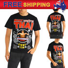 AU New Men T-shirt Muay Thai Boxing Pro MMA Training Practice Tee MT52 Size S-XL