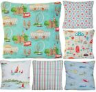 Cath Kidston Fabric Cushion Cover Flowers Birds London Boats + New Collection