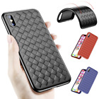 Baseus Weaving Grid Bumper Case For iPhone X Plus Ultra Thin Soft TPU Back Cover