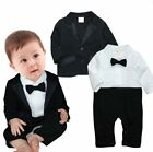 Baby Boy Wedding Christening Page Boy Formal Tuxedo Suit Outfit Party Cloth Set