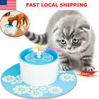 1.6L Automatic Flower Style Pet Dog Cat Water Fountain Dispenser Drinking Bowl U