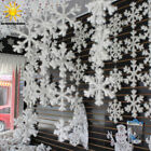 Внешний вид - 12/30/ 60pcs Classic White Snowflake Ornaments Christmas Tree Party Home Decor F