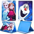 Kids Cartoon Frozen Folio Stand Leather Cover Case For iPad 2 3rd 4th Mini Air 2