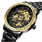 Luxury Fashion Mechanical Men Watch Number Sports Stainless Steel Date Watch