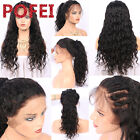 180% Density Pre-plucked 360 Lace Frontal Wigs Brazilian Human Hair Natural Wave