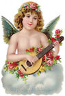 Angel Roses Mandolin Crazy Quilt Block Multi Sizes FrEE ShiPPinG WoRld WiDE