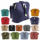 NEW FAUX LEATHER GOLD DETAILS THREE COMPARTMENTS LADIES FORMAL CROSSBODY BAG