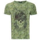 King Kerosin Vintage T-Shirt - Born To Kill Camouflage Skull Schädel Soldat